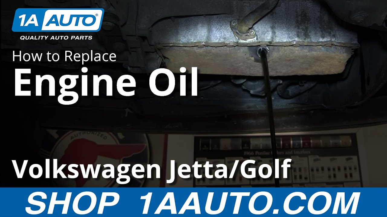 How to Change Oil and Filter 1.8T 04 Volkswagen Jetta and Golf