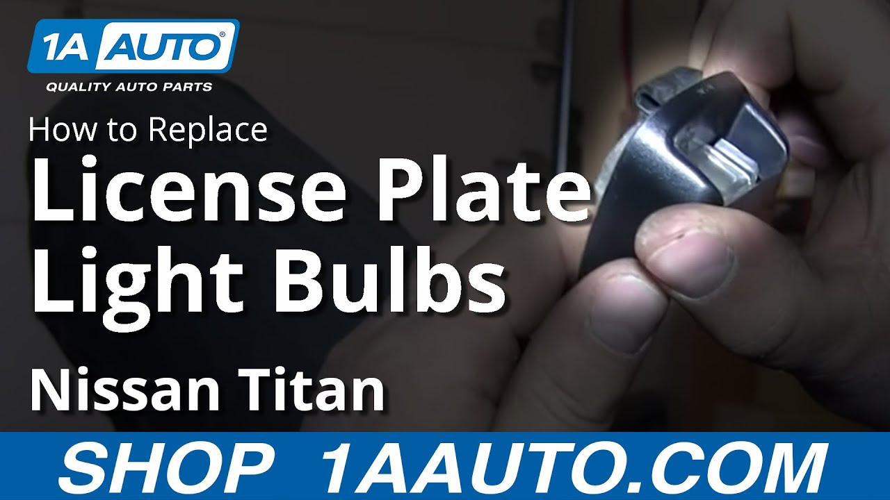 How To Replace License Plate Bulb 04-15 Nissan Titan