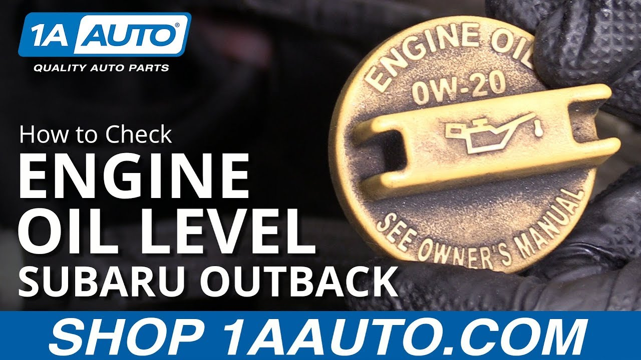 How to Check Oil Level 10-14 Subaru Outback