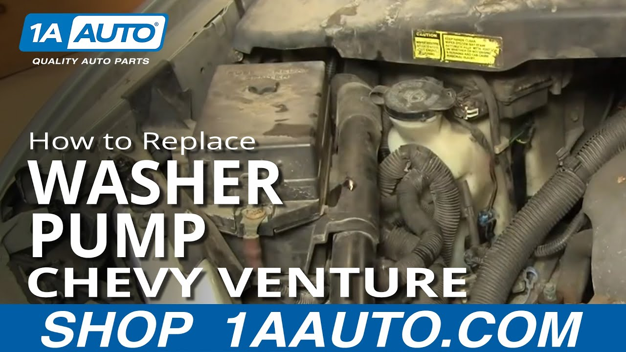 How to Replace Front Windshield Washer Pump 97-05 Chevy Venture