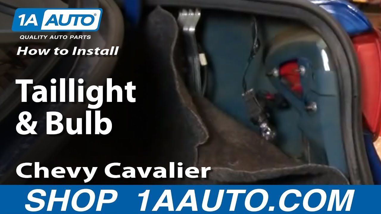 How to Replace Tail Light 03-05 Chevy Cavalier