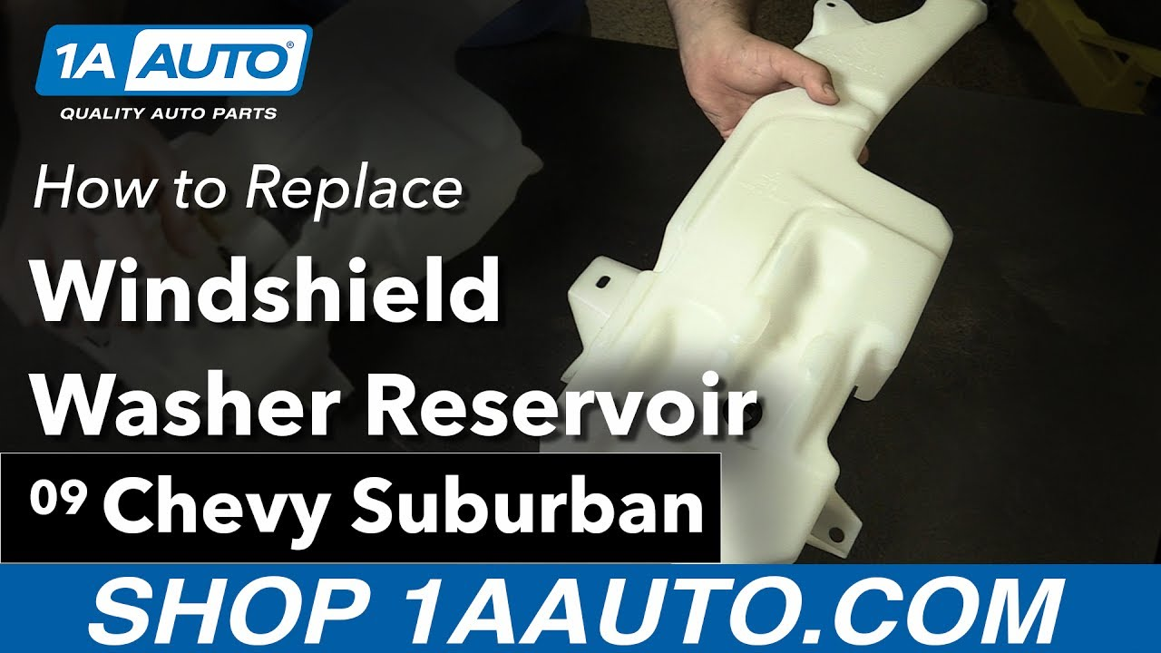 How to Replace Windshield Washer Reservoir 07-14 Chevy suburban