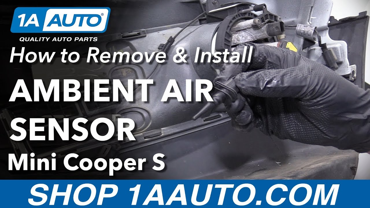 How to Install Ambient Air Sensor 02-10 Mini Cooper S