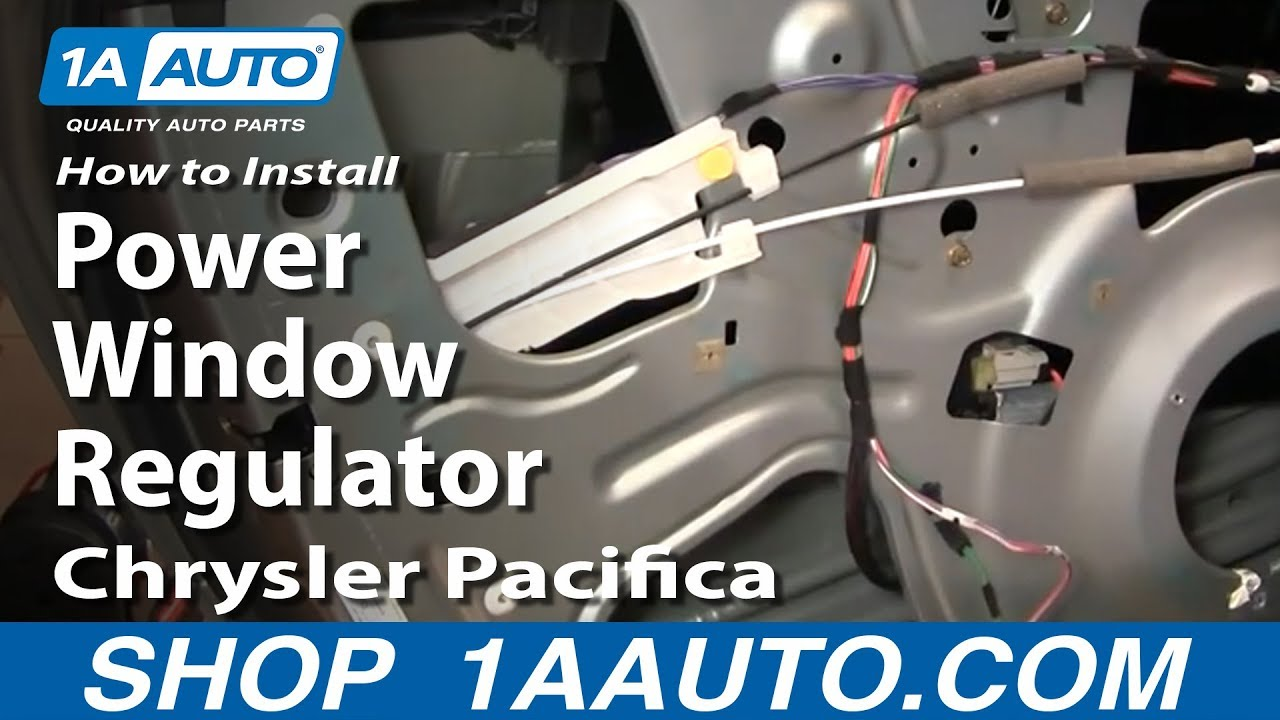 How to Replace Rear Window Regulator 04-08 Chrysler Pacifica