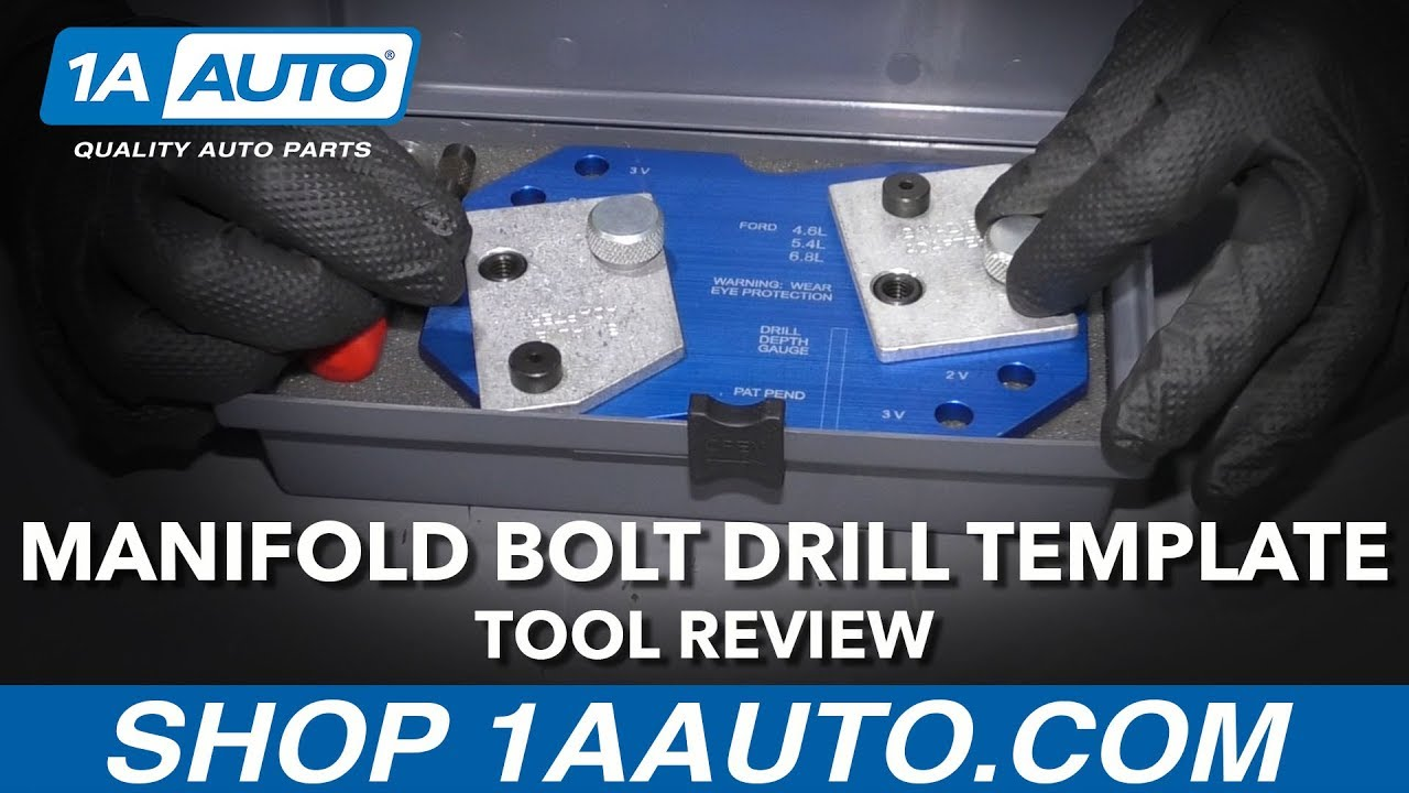 Ford Broken Exhaust Manifold Bolt Drill Template - Available at 1AAuto.com