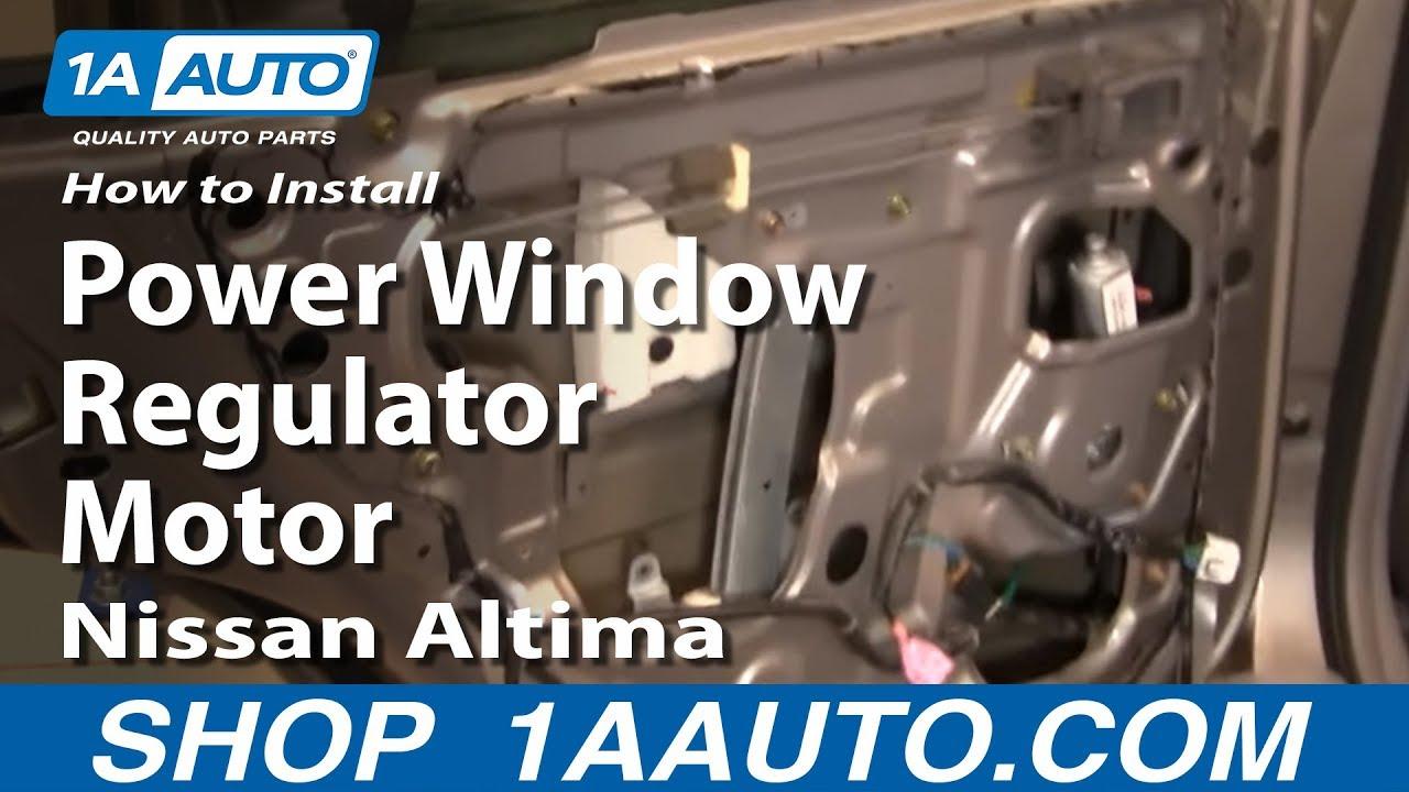 How to Replace Window Regulator 98-01 Nissan Altima