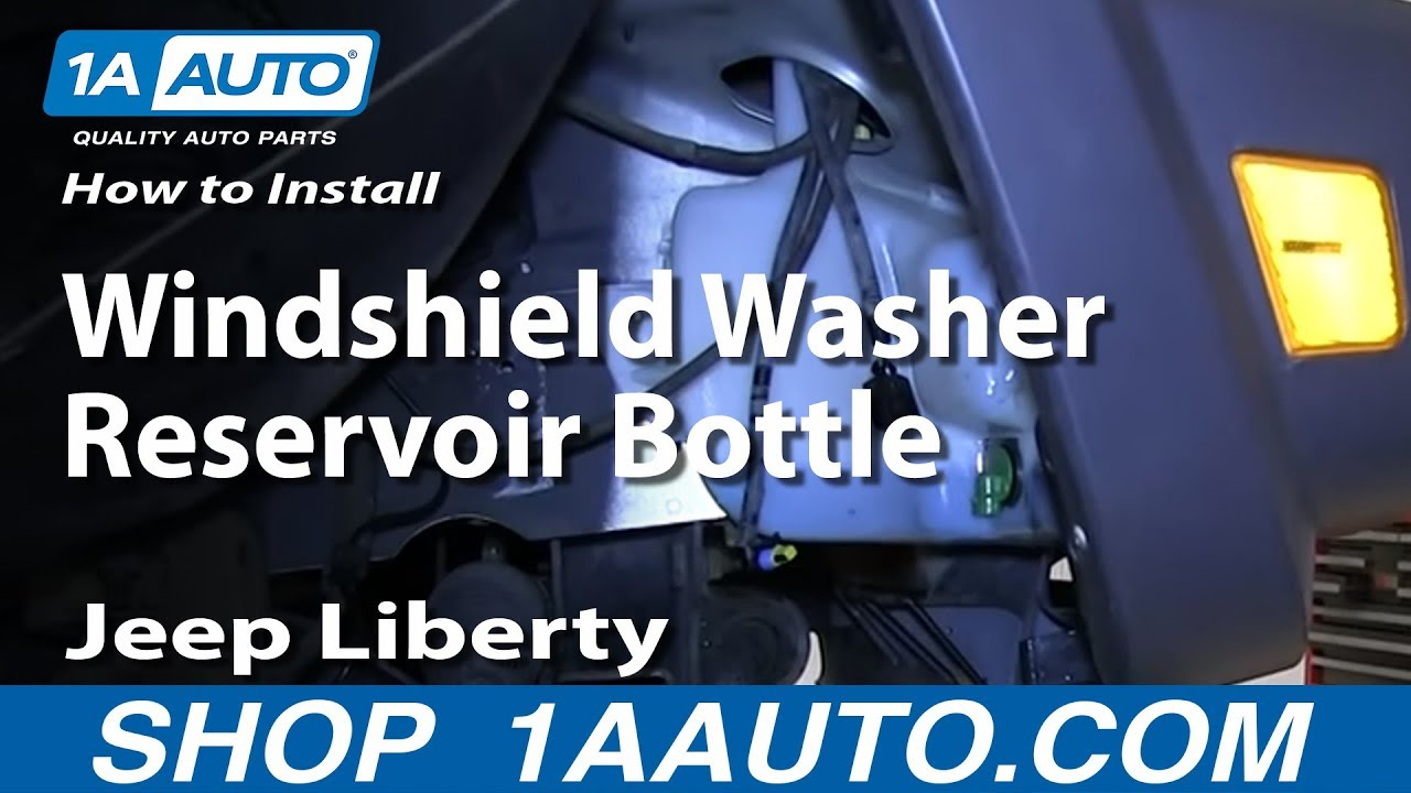 How To Replace Windshield Washer Reservoir 02-07 Jeep Liberty