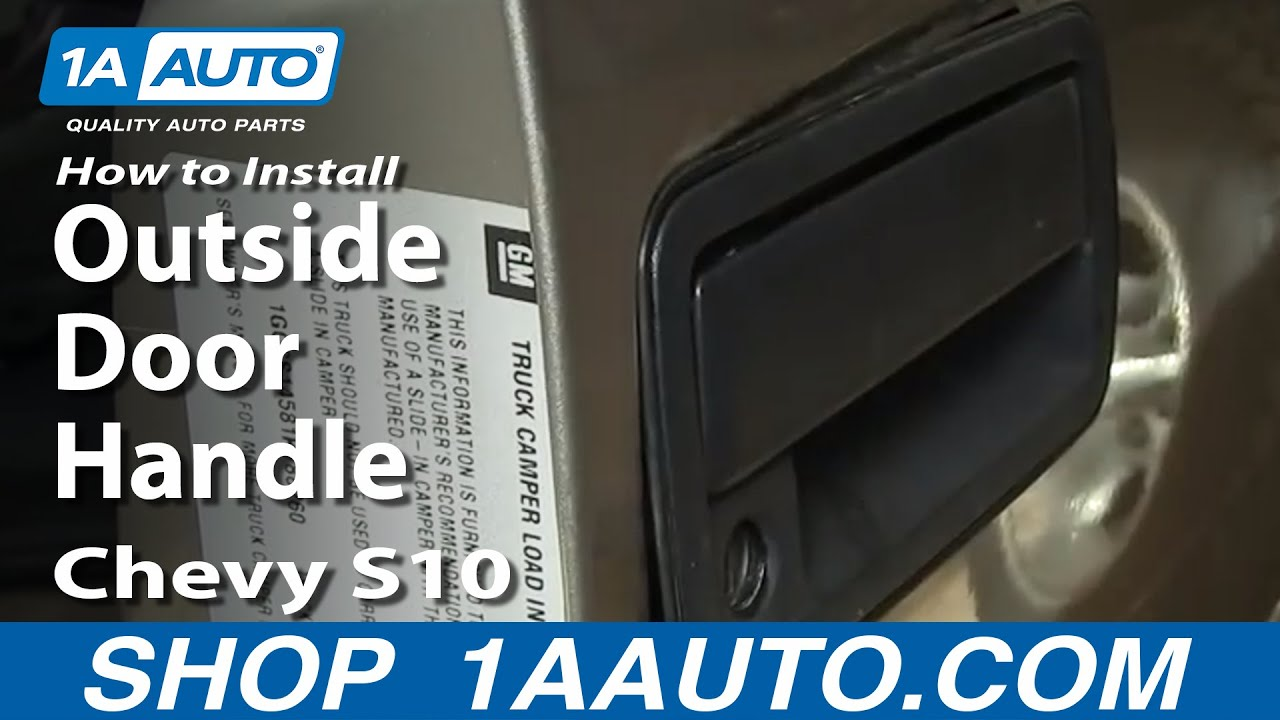 How to Replace Exterior Door Handle 98-04 Chevy S10