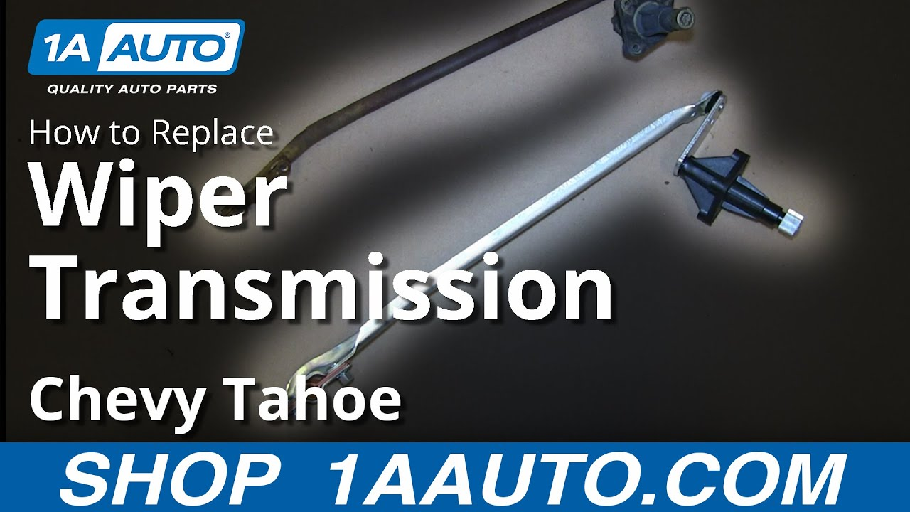 How to Replace Windshield Wiper Transmission 95-00 Chevy Tahoe