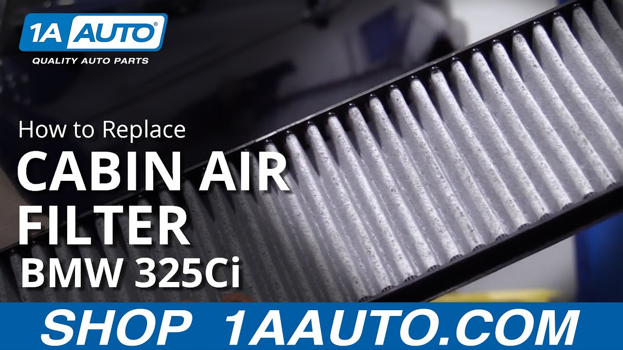 How to Replace Cabin Air Filter 01-06 BMW 325Ci