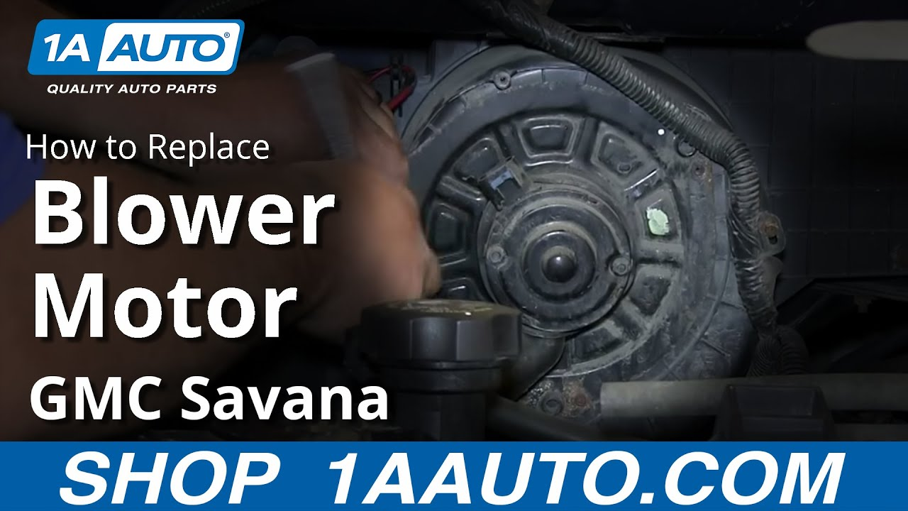 How to Replace Blower Motor with Fan Cage 96-13 GMC Savana