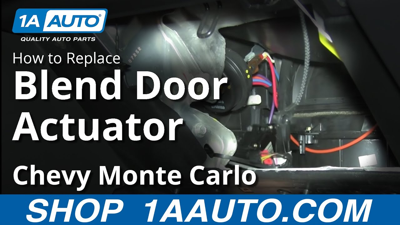 How to Replace Blend Door Actuator 00-03 Chevy Monte Carlo