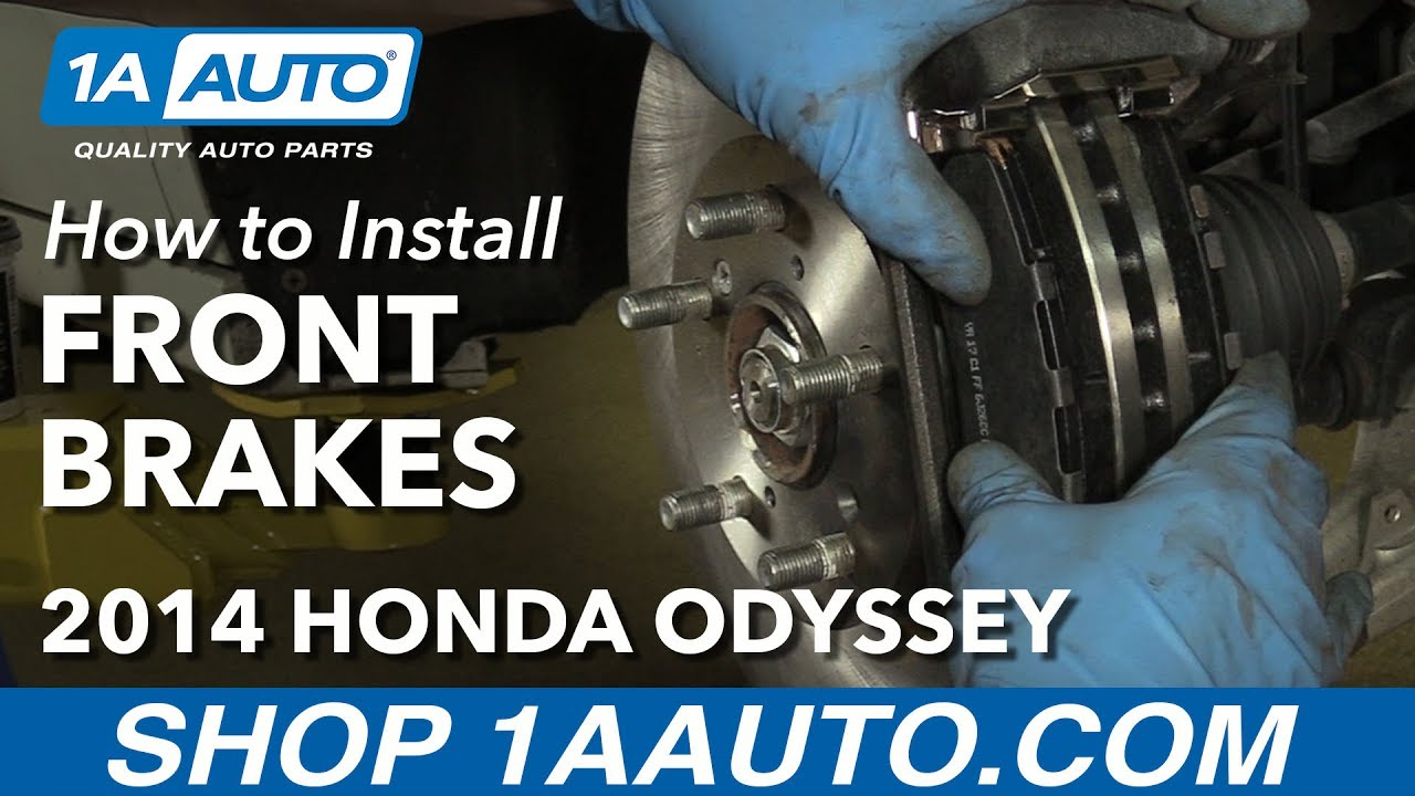 How to Replace Front Brakes 11-14 Honda Odyssey