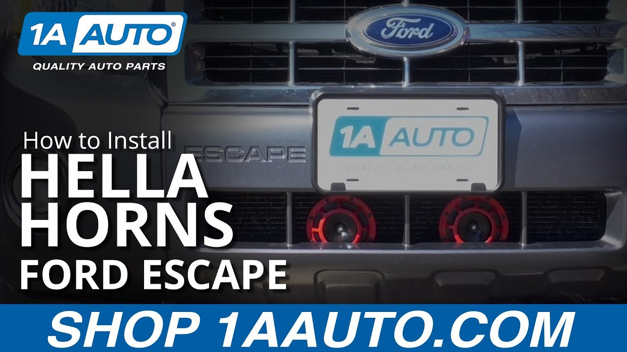 How to Install Hella Horns 08-12 Ford Escape