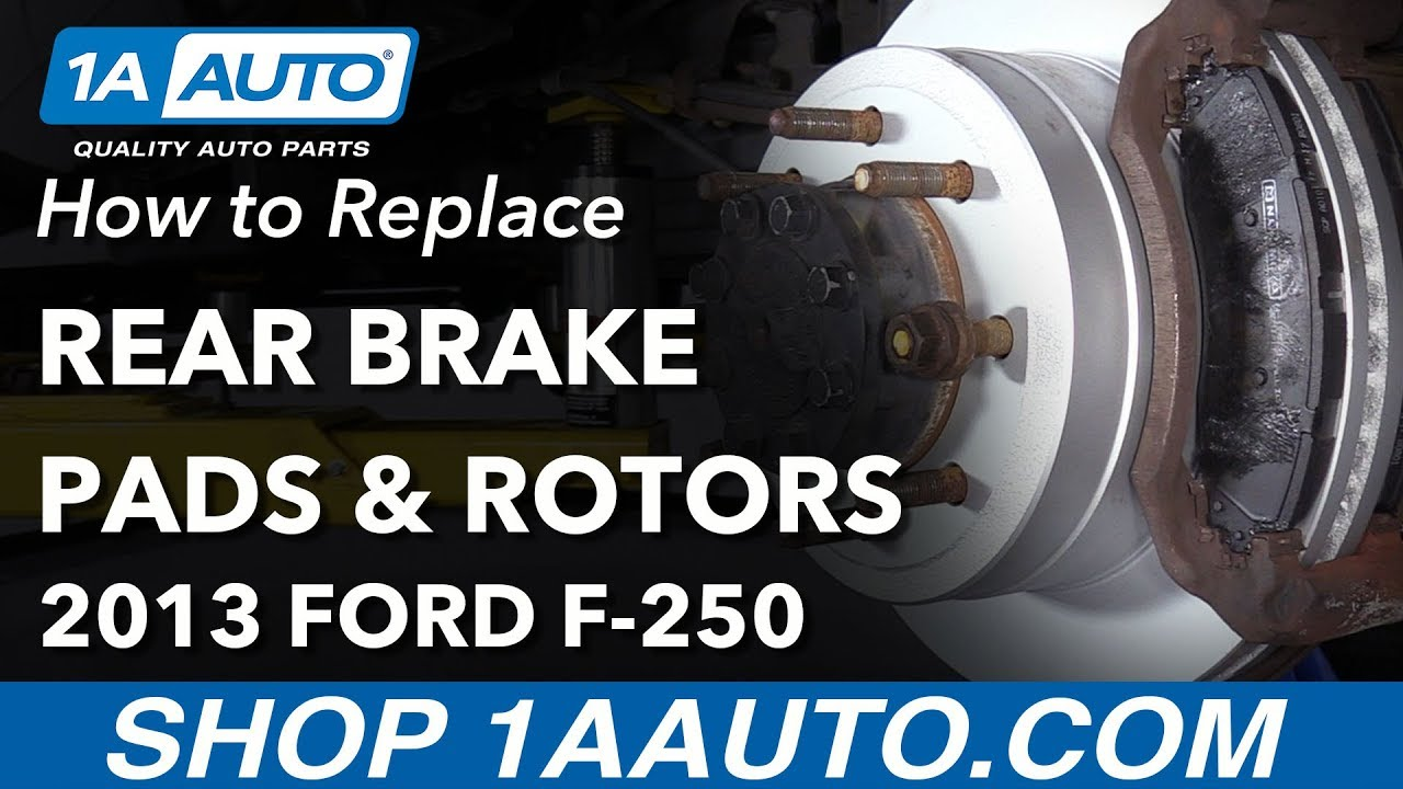 How to Replace Rear Brakes 11-16 Ford F250