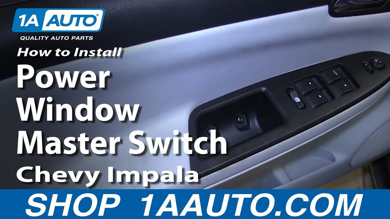 How to Replace Master Power Window Switch 06-08 Chevy Impala