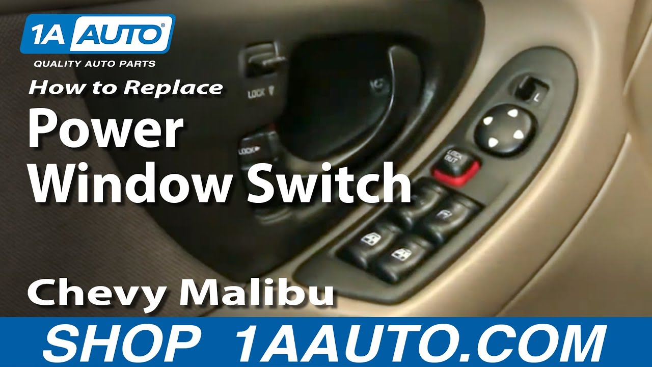 How to Replace Power Window Switch 97-04 Chevy Malibu