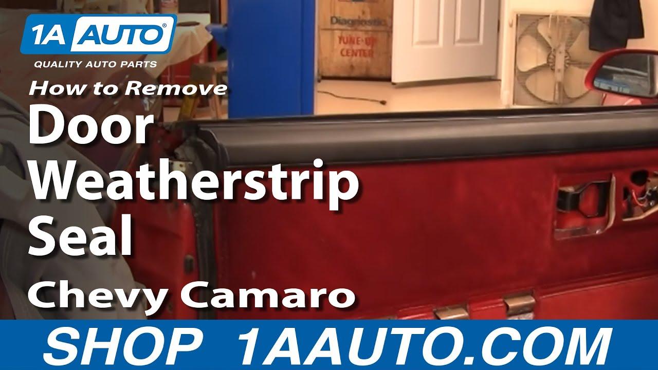 How to Replace Door Weatherstrip Seal 82-92 Chevy Camaro