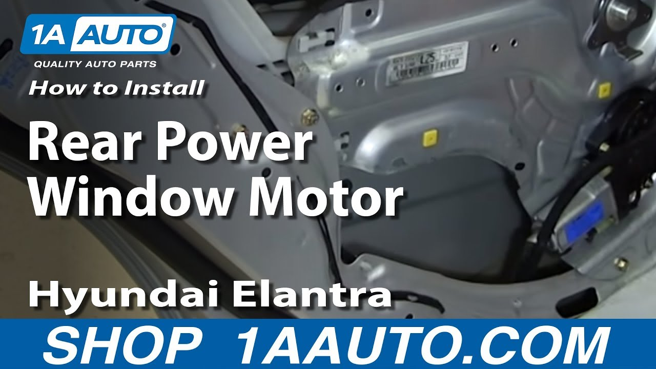 How to Replace Power Window Motor 01-06 Hyundai Elantra