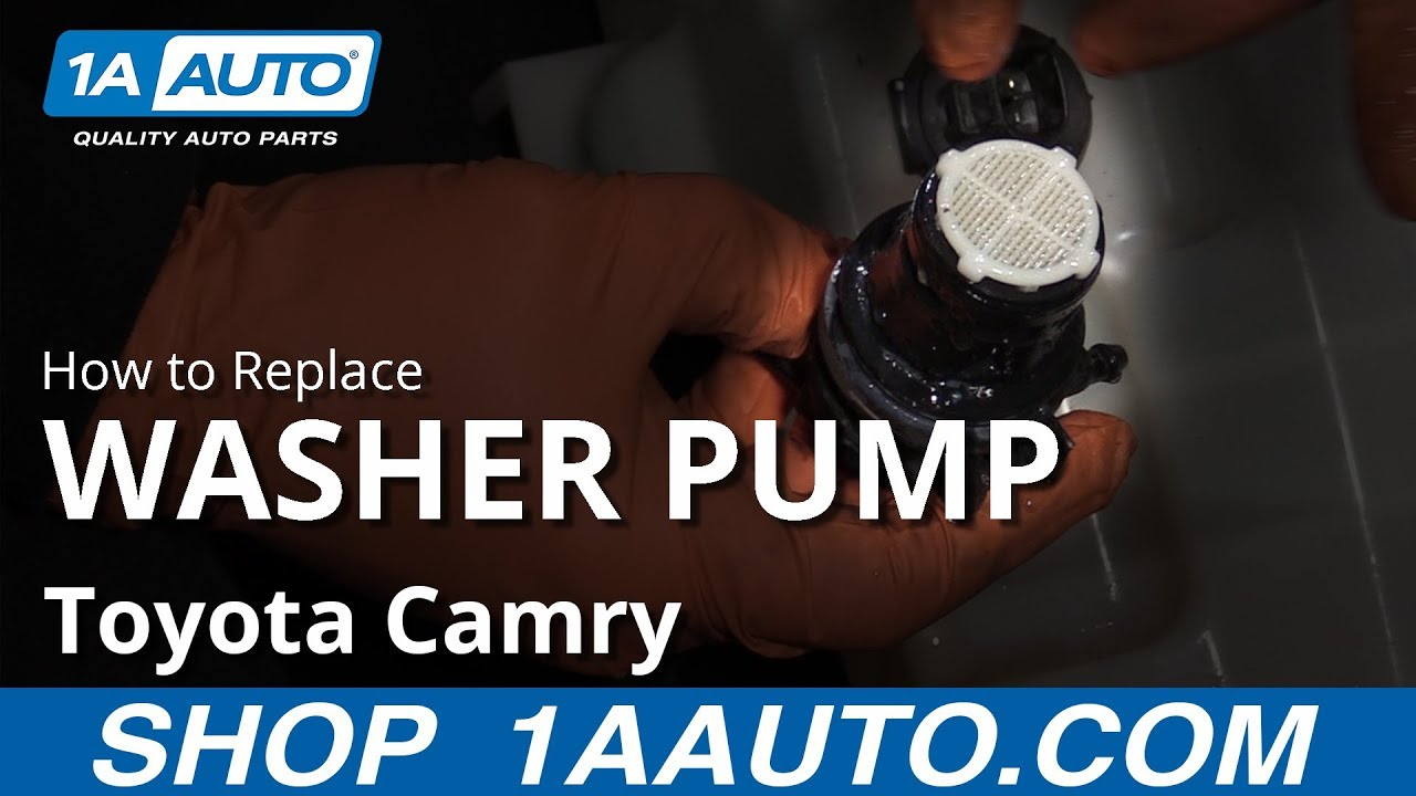 How to Replace Washer Fluid Pump 11-17 Toyota Camry
