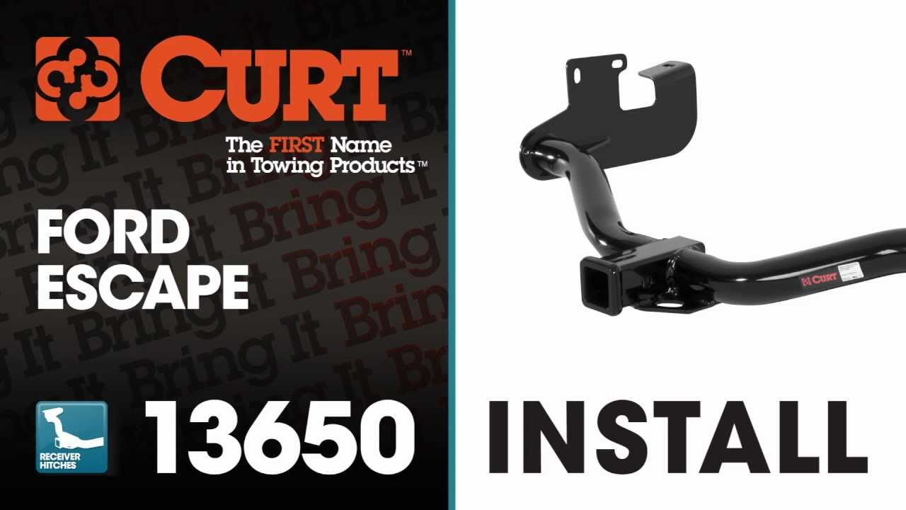 Trailer Hitch Install: CURT 13650 for 2005-2012 Ford Escape
