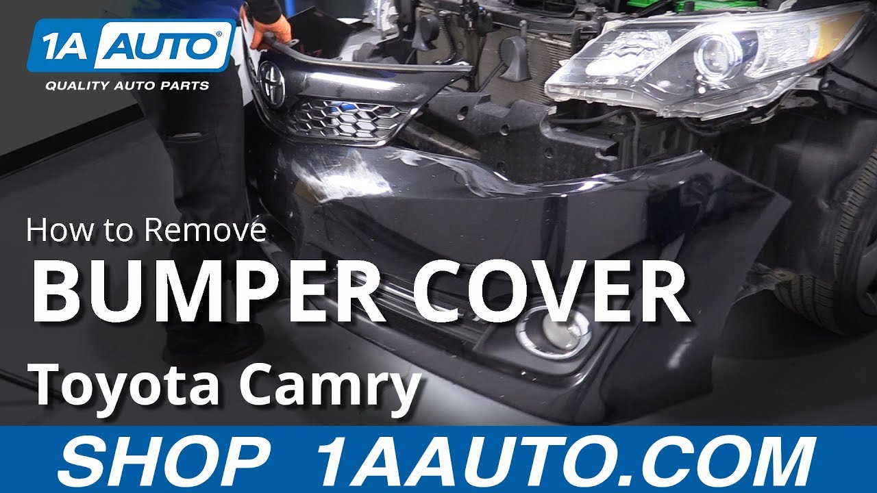 How to Remove Bumper Cover 11-17 Toyota Camry