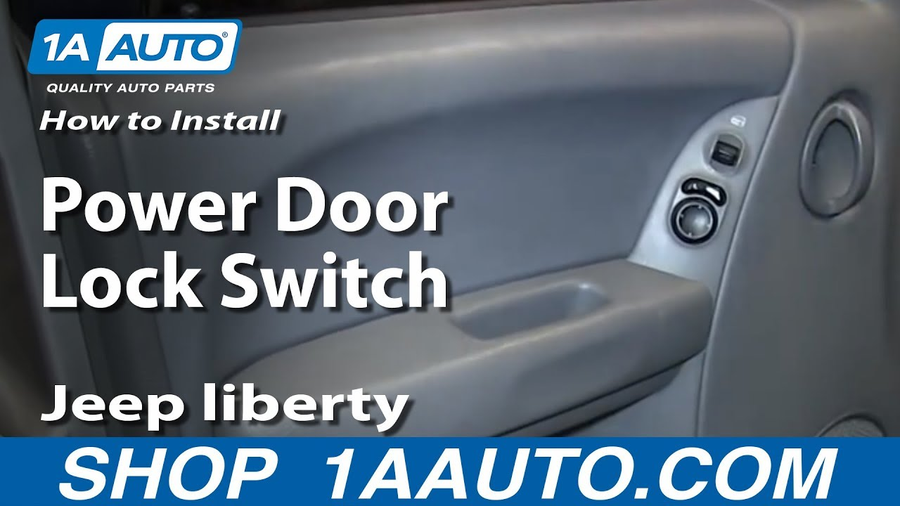 How To Replace Power Door Lock Switch 04-07 Jeep liberty