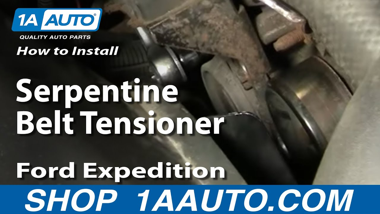 How To Replace Serpentine Belt Tensioner 97-03 Ford Expedition