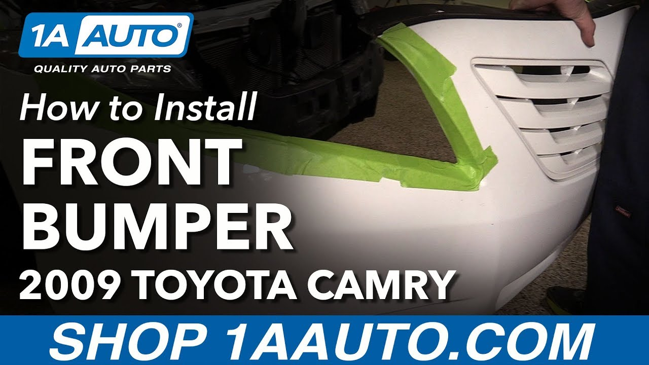 How to Remove Reinstall Front Bumper 06-11 Toyota Camry