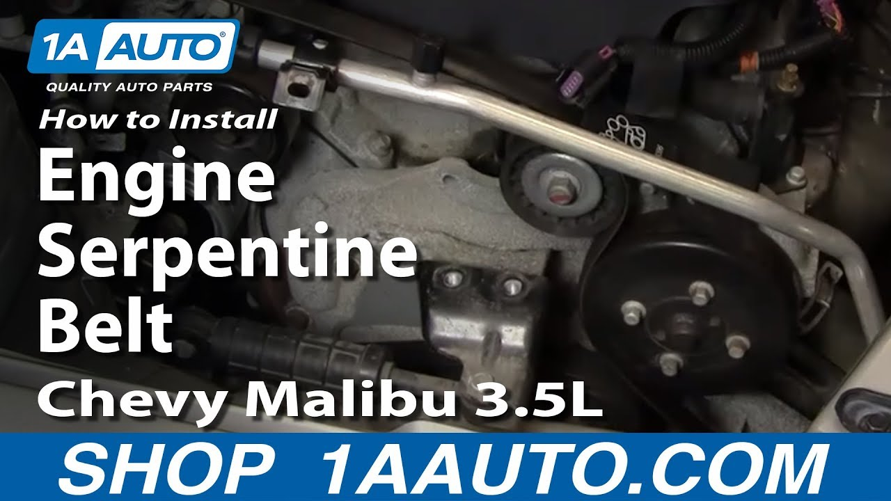 How to Replace Serpentine Belt 04-06 Chevy Malibu