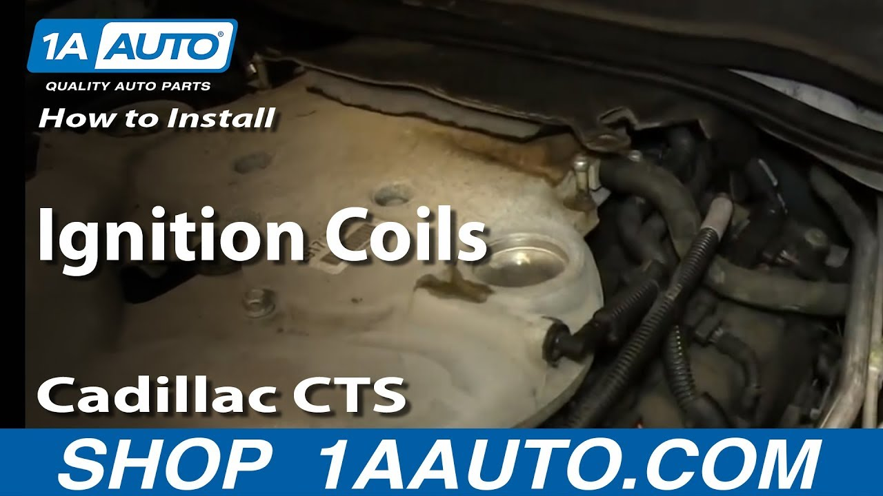 how to replace ignition coils 03 07 cadillac cts 1a auto. Black Bedroom Furniture Sets. Home Design Ideas