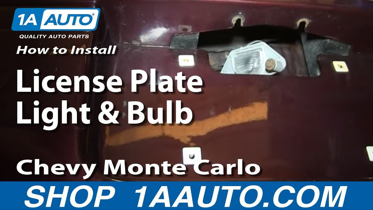 How to Replace License Plate Light 00-05 Chevy Monte Carlo