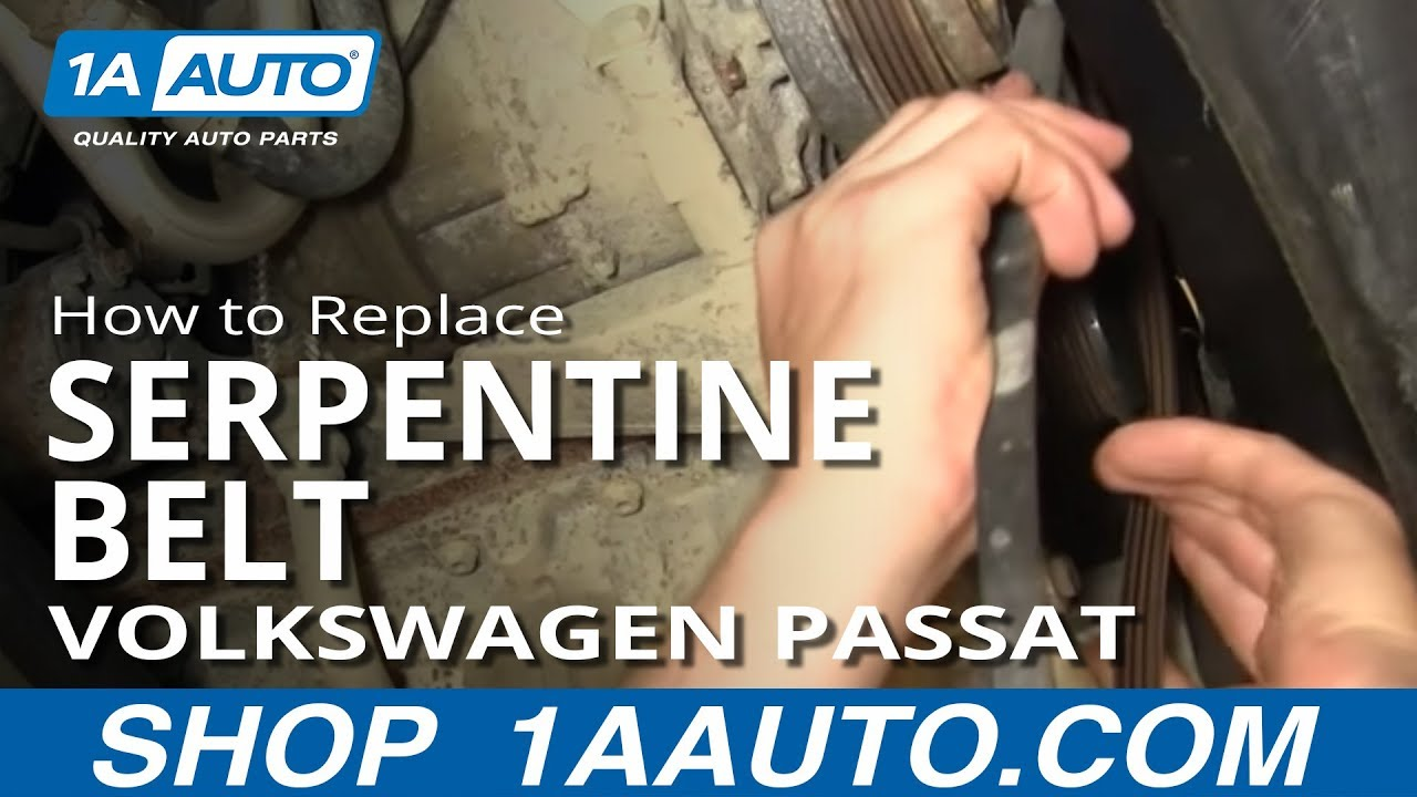 How to Replace Serpentine Belt 01-05 Volkswagen Passat