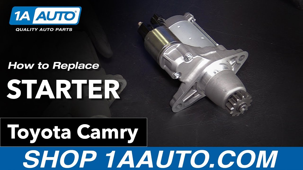 How to Replace Starter 06-11 Toyota Camry