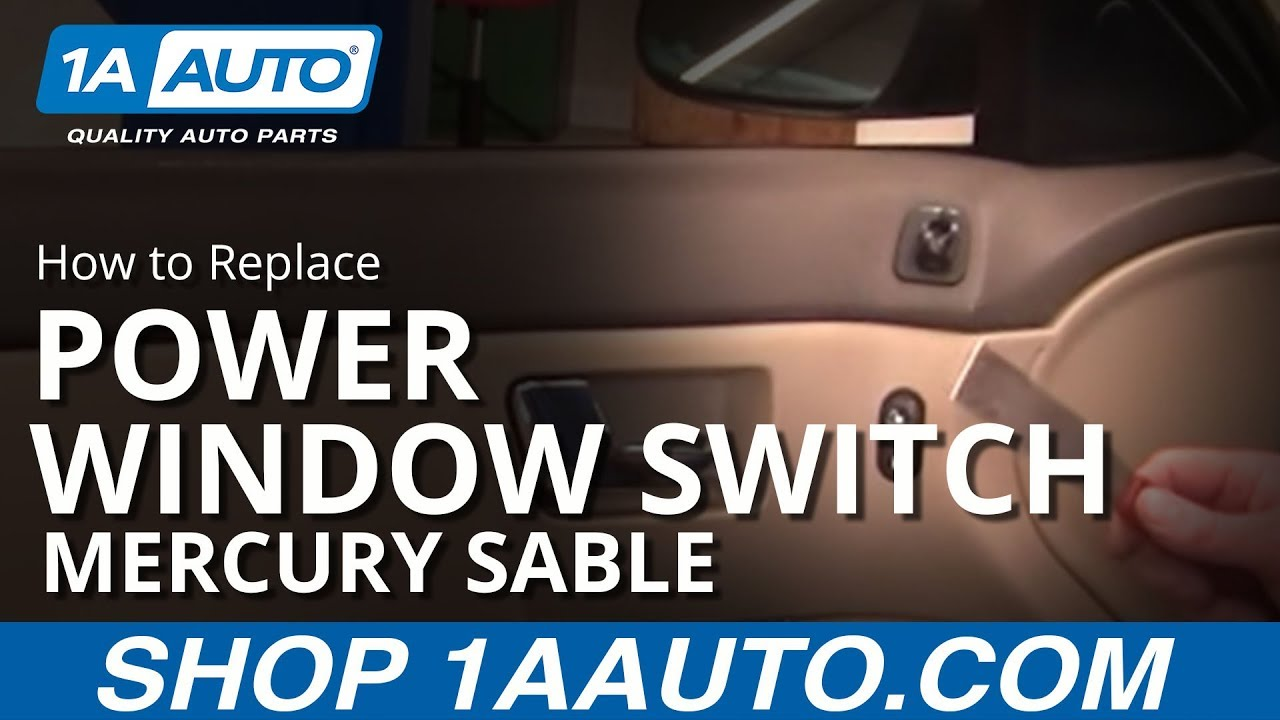 How to Replace Power Window Switch 00-05 Mercury Sable