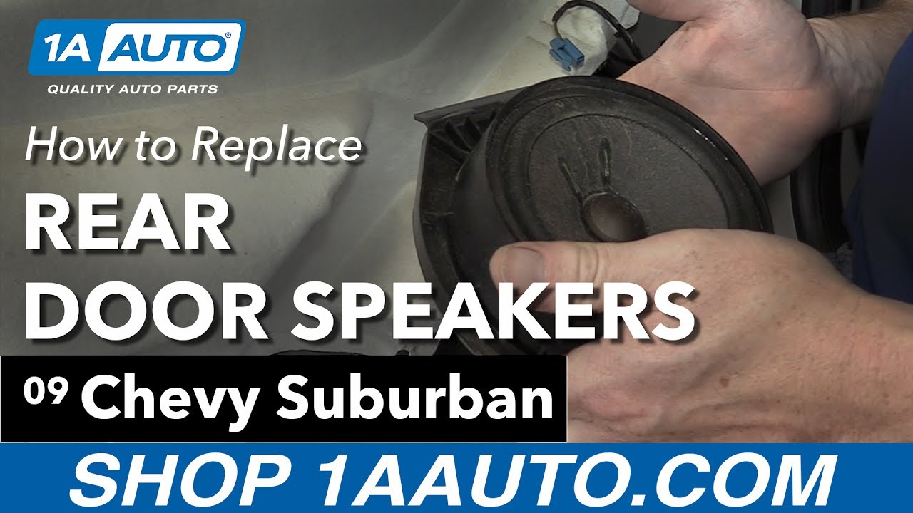 How to Remove Rear Door Speakers 07-13 Chevy Suburban