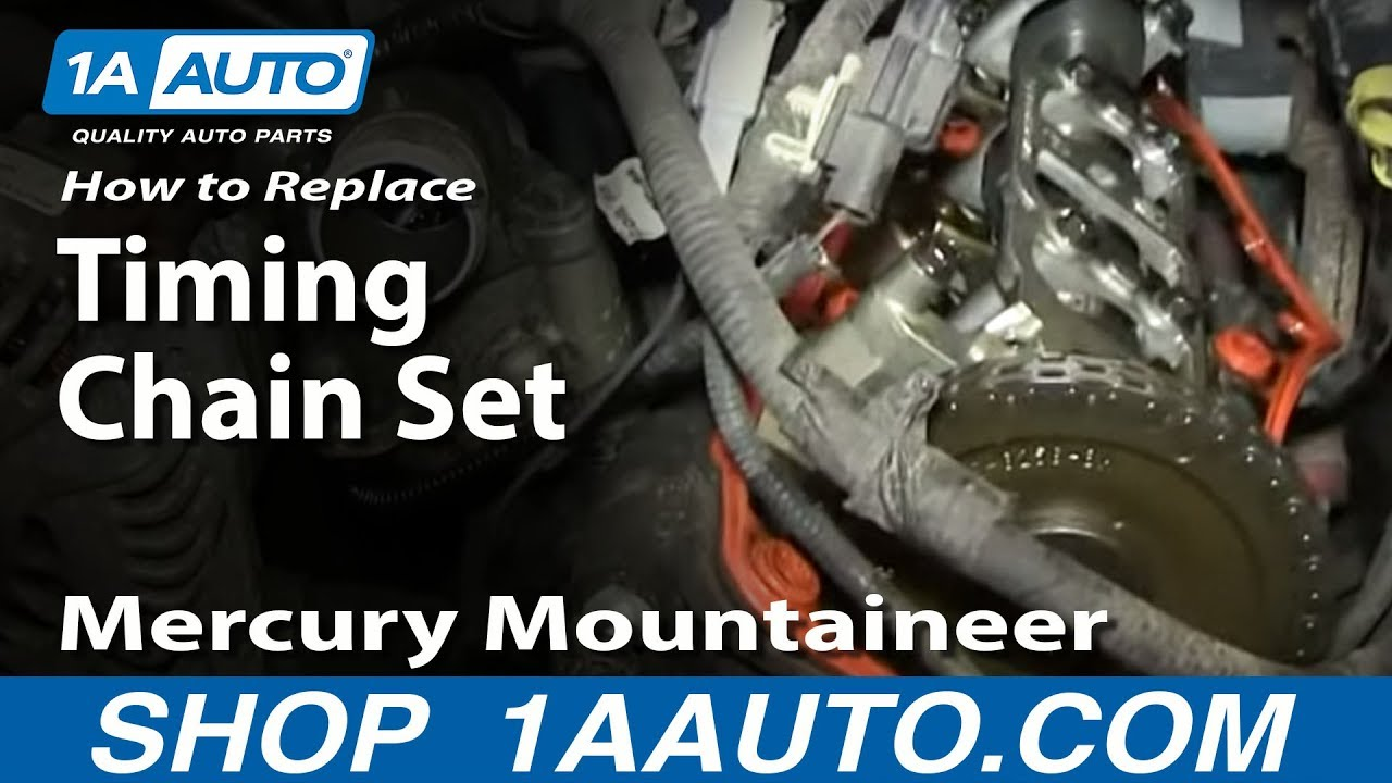 How to Replace Timing Chain Set 02-05 Mercury Mountaineer - Part 1