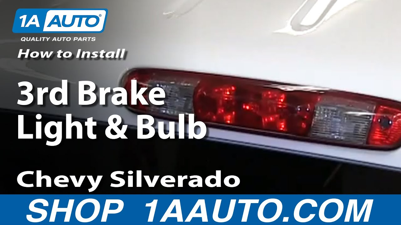[DIAGRAM_3NM]  How To Change 3rd Brake Light & Bulb 07-13 Chevy Silverado | 1A Auto | 2008 Gmc Sierra Tail Light Wiring |  | 1A Auto
