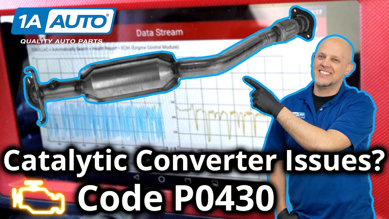 Check Engine Light Trouble Code Code P0430 Catalytic Converter Low Efficiency