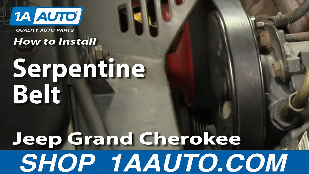 How To Replace Serpentine Belt 96 98 Jeep Grand Cherokee 1a Auto