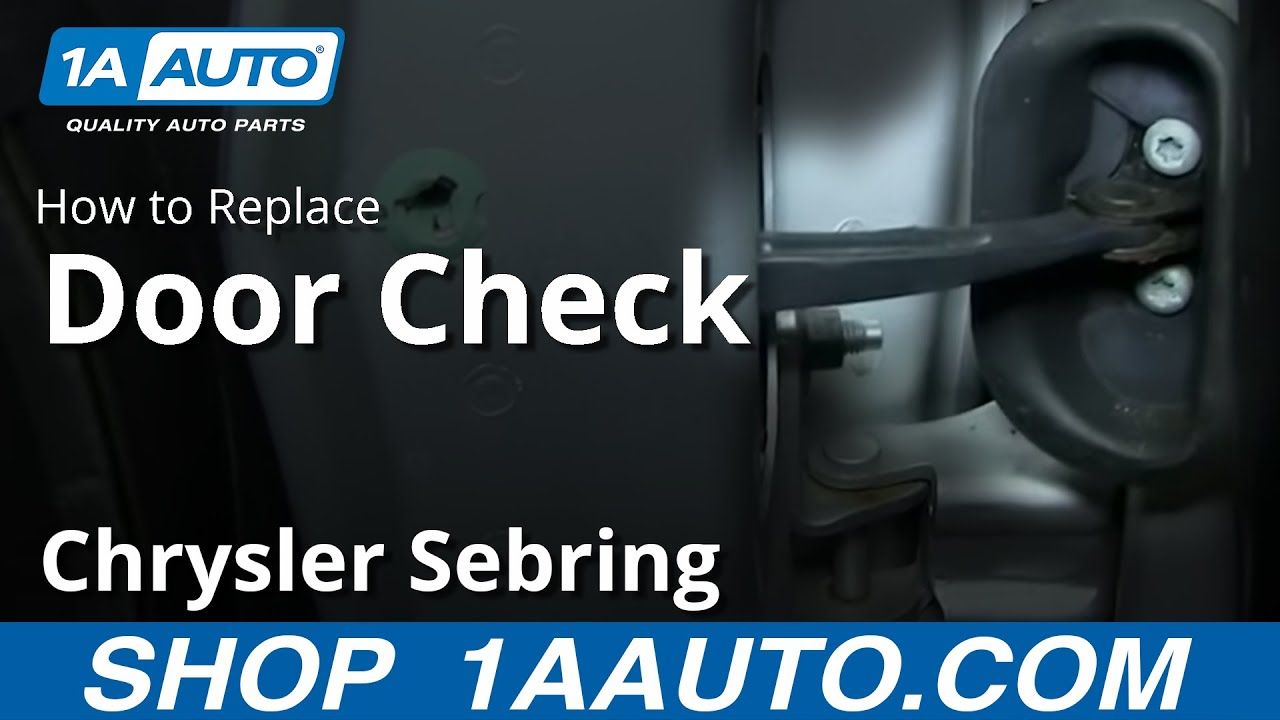 How to Replace Door Check 01-06 Chrysler Sebring