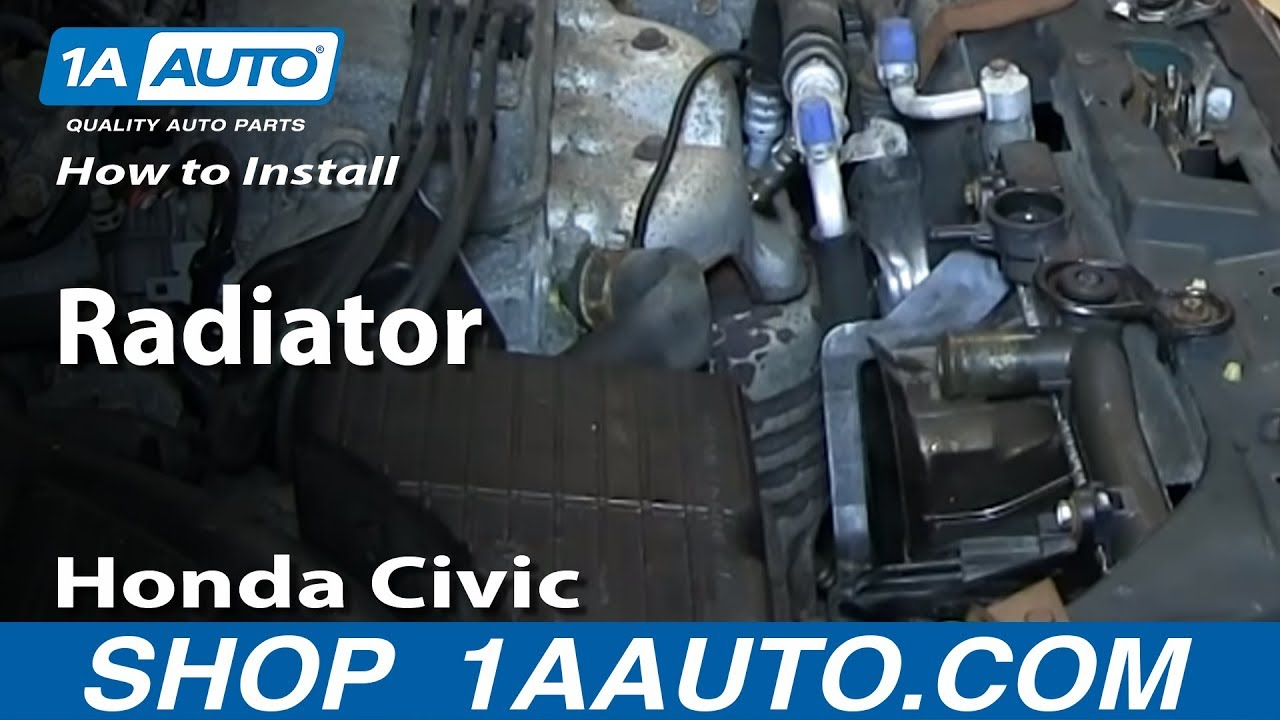 How to Replace Radiator 92-00 Honda Civic
