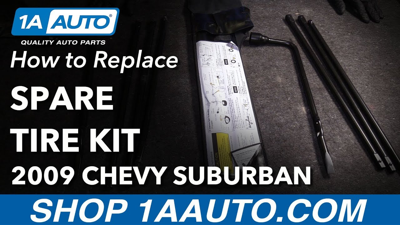 How to Remove Spare Tire Kit 07-14 Chevrolet Suburban