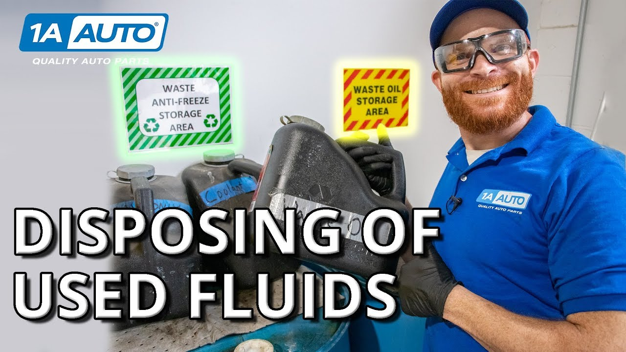How to Recycle Used Oil and Other Fluids