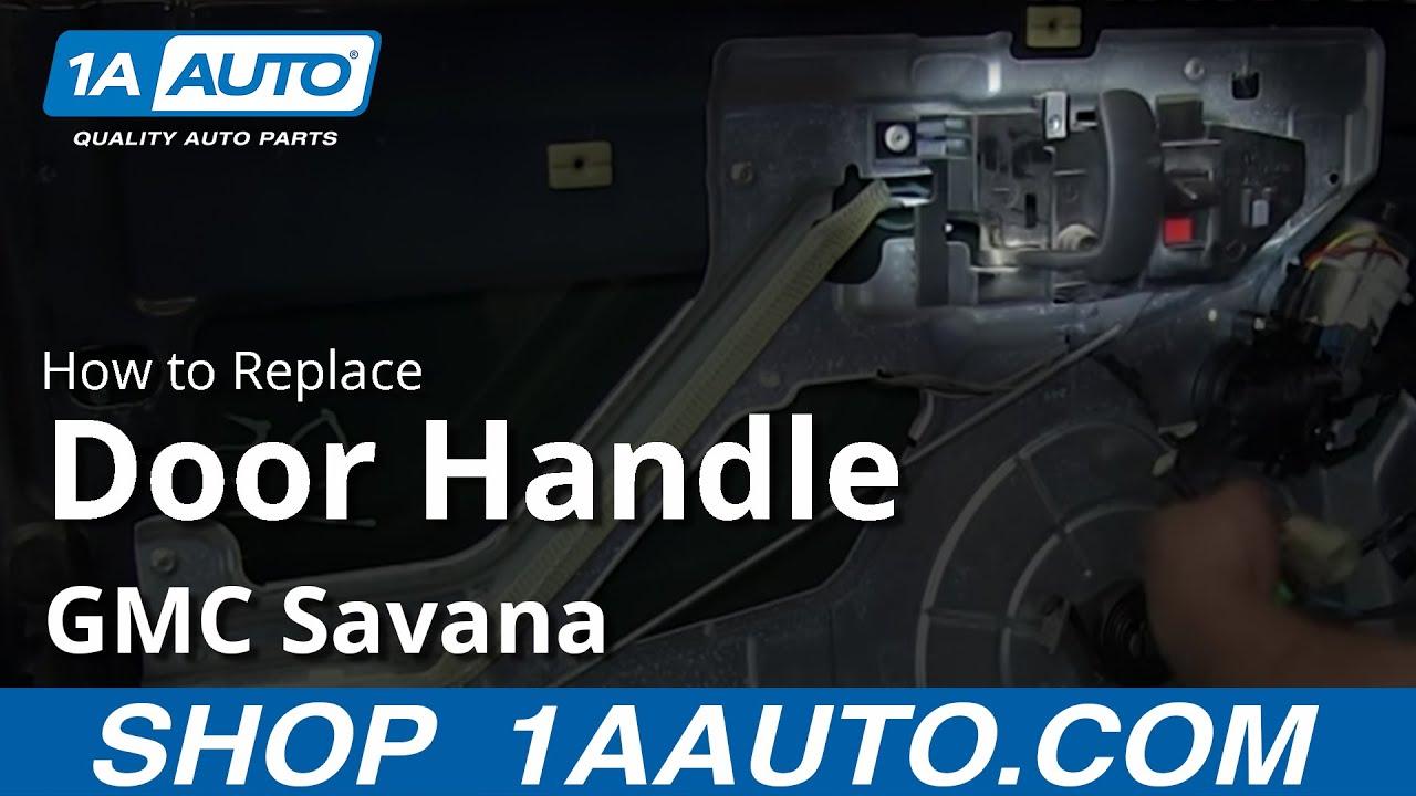 How To Replace Front Interior Door Handle 03-13 GMC Savana