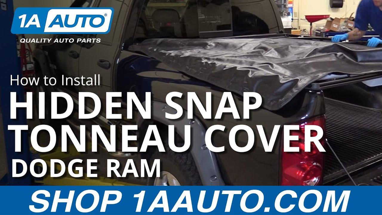 How to Install Hidden Snap 6 1/2 Foot Bed Tonneau Cover 02-08 Dodge Ram