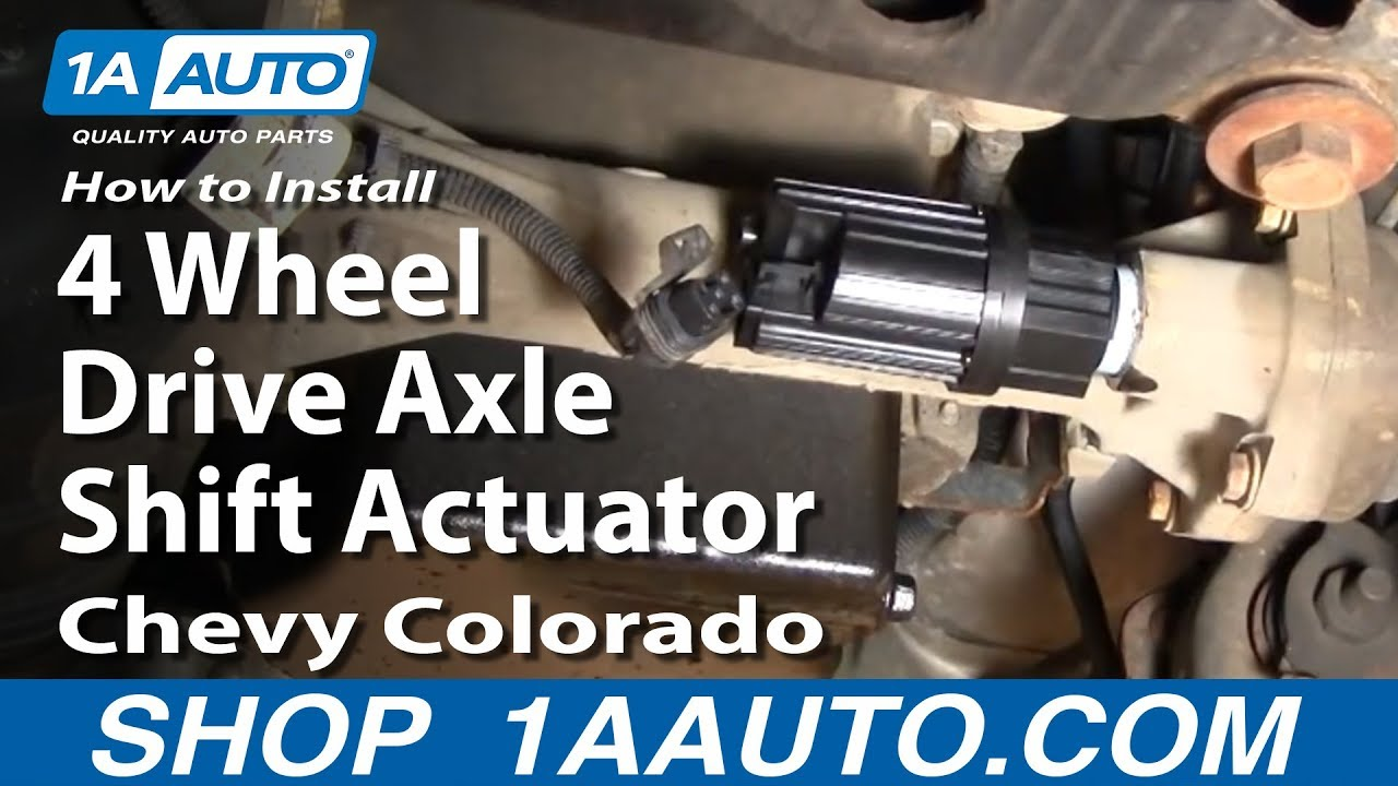 How to Replace Four Wheel Drive Actuator 04-12 Chevy Colorado