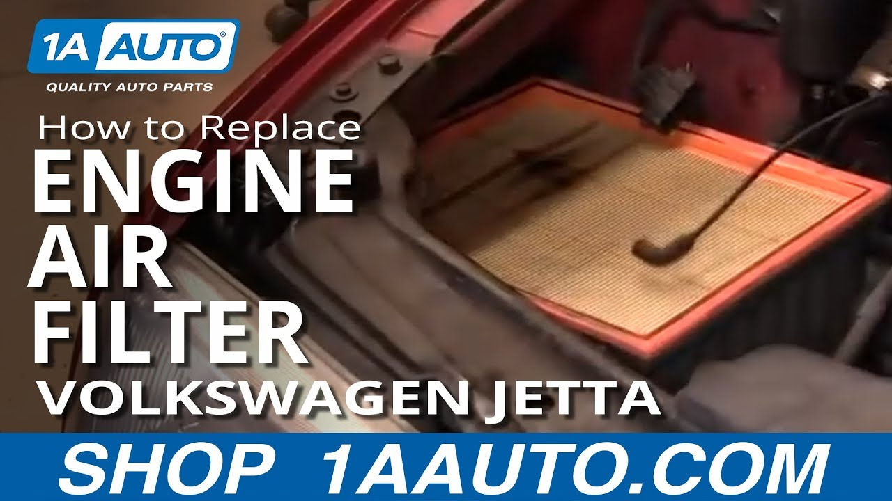 How to Replace Engine Air Filter Volkswagen Jetta 93-98