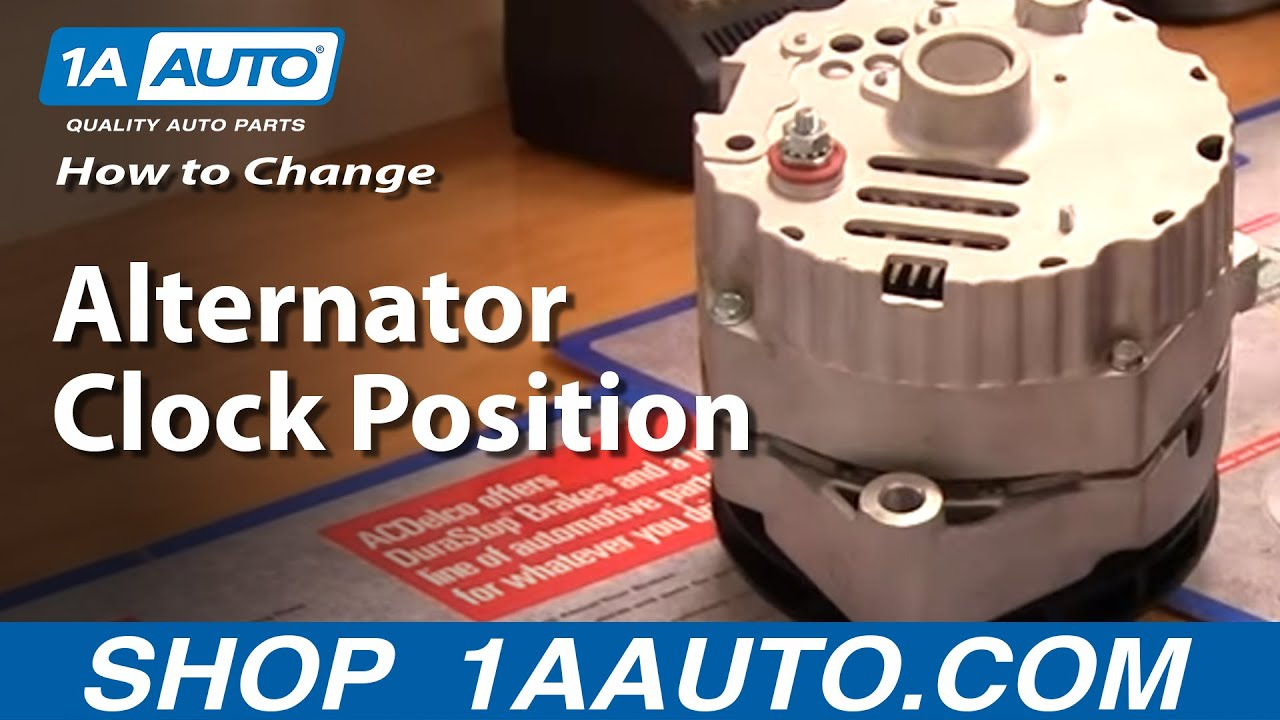 How To Change Alternator Clock Position or Degree