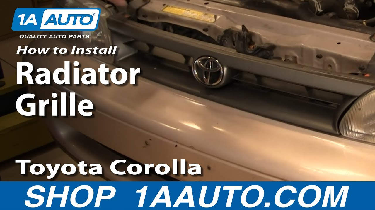 How to Replace Grille 93-95 Toyota Corolla